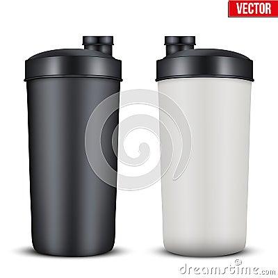 Free Mockup Plastic Sport Nutrition Drink Bottle. Stock Image - 66675581