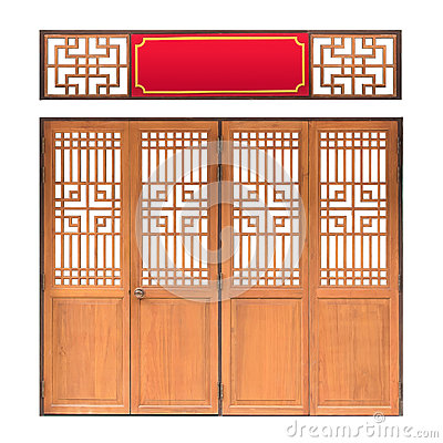 Mod le asiatique traditionnel de fen tre et de porte bois style chinois w photo stock image - Porte asiatique ...