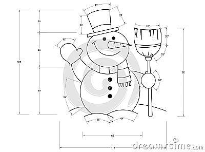 Mod le de bonhomme de neige illustration stock image 47238091 - Modele bonhomme de neige ...
