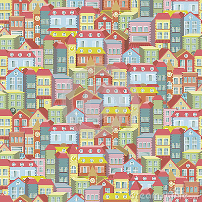 Modèle de fond de concept de ville sans couture