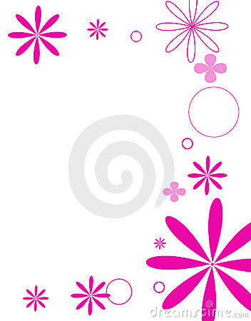 Free Mod Flowers Hot Pink Royalty Free Stock Photo - 497125