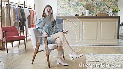Moda Model Posing Casting zdjęcie wideo