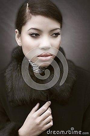 Moda zirytowany portret