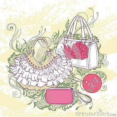 modeillustration von verschiedenen handtaschen stock abbildung bild 62211510. Black Bedroom Furniture Sets. Home Design Ideas
