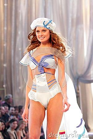 Model at the 12th Annual Victorias Secret Fashion Show. Kodak Theatre, Hollywood, CA. 11-15-07 Editorial Stock Image