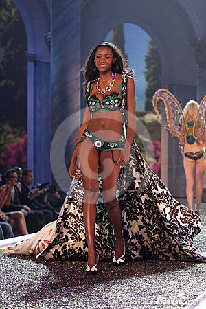 Model at the 12th Annual Victorias Secret Fashion Show. Kodak Theatre, Hollywood, CA. 11-15-07 Editorial Stock Image