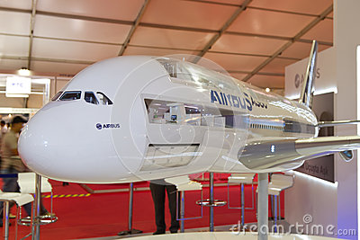 Model of Airbus A380 Editorial Photography