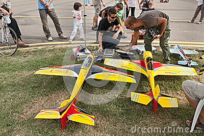 Model aircraft with electric motor Editorial Photography