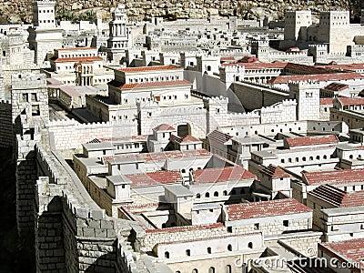 Model of Ancient Jerusalem. Hasmonean Palace.
