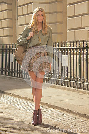 Free Model At London Fashion Week Stock Images - 26676634