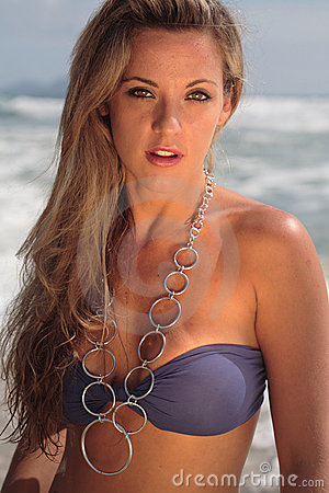 Free Model At The Beach Stock Photo - 3572590