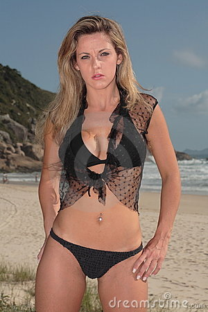 Free Model At The Beach Stock Image - 3663931