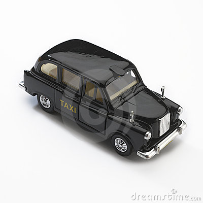 model of black london taxi cab