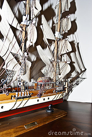 Model of a boat