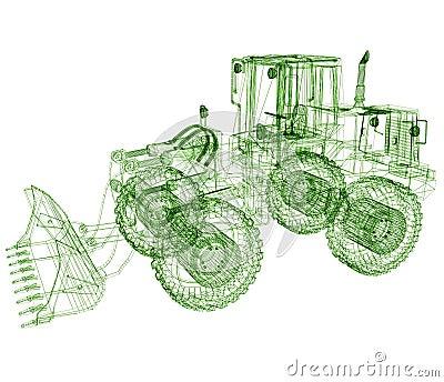 Model bulldozer