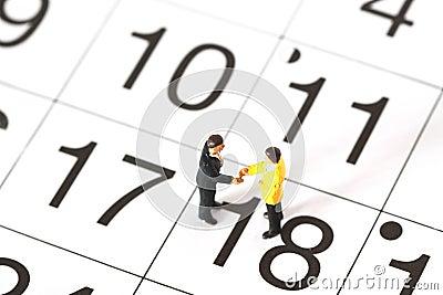Model business figures calendar A