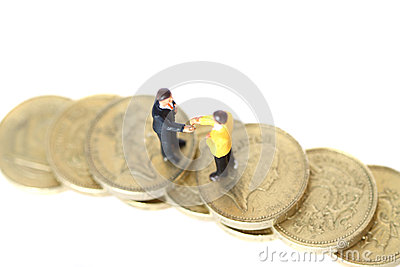 Model business figures coins A