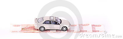 Model Cars On Way Of Money Stock Image - Image: 22565241