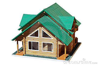 Model of a country apartment house