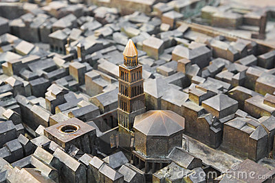 Model of Diocletian palace in Split, Croatia