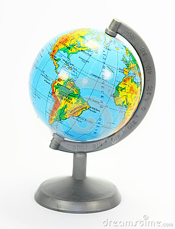 Model of the Earth is a globe.