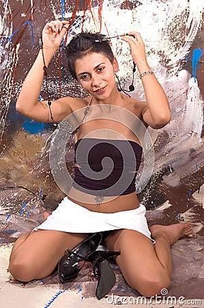 Free Model Erotic Girl Royalty Free Stock Photos - 1266968