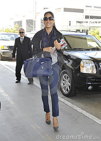 Model Kimora Lee Simmons at LAX airport. Editorial Photography