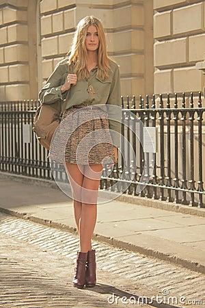 Model at London Fashion Week Editorial Stock Image