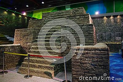 Model of Lost Pyramid of Mirador Editorial Stock Photo