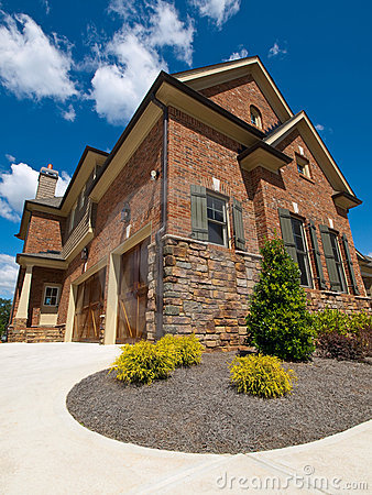Model Luxury Home Exterior extreme view garage