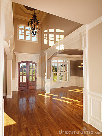 Free Model Luxury Home Interior Front Entrance Archway Royalty Free Stock Photos - 11835648