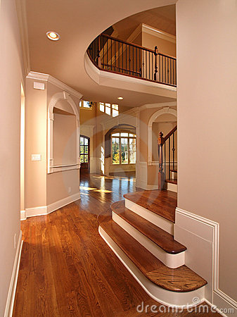 Model Luxury Home Interior Hallway with stairs