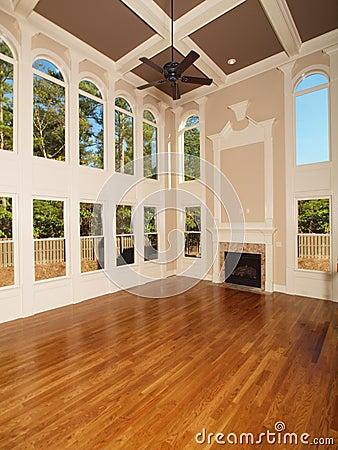 Model Luxury Home Interior Living Room windows