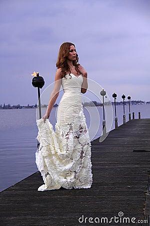 White wedding dress Editorial Photography