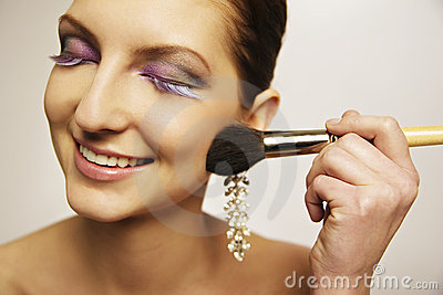 Model make-up blush