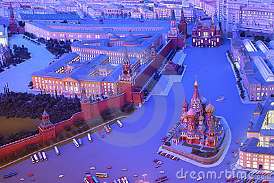 Model Moscow is capital of USSR - Red Square Editorial Stock Photo