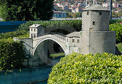 Model Of Mostar Bridge Royalty Free Stock Photography - Image: 21904007