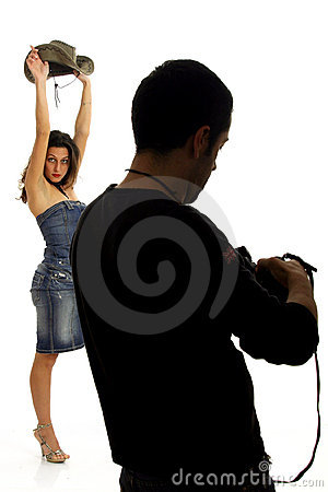 Model and photographer
