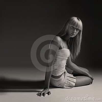 Model Posing, Studio Shot Stock Images - Image: 18388484