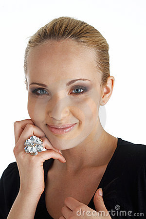 Model With A Ring.