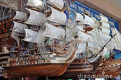 Model Sailing Ships, Ho Chi Minh City, Vietnam Editorial Photography