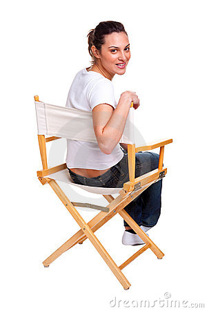 Free Model Sat In A Chair Royalty Free Stock Photography - 9841477