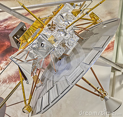Model Satellite at NASA Ames Research Center Editorial Photo
