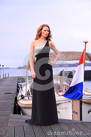 Model wearing formal evening dress Editorial Image