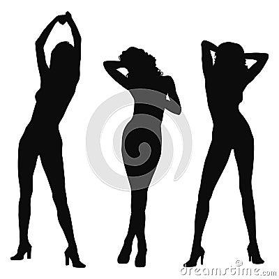 Model silhouette tre