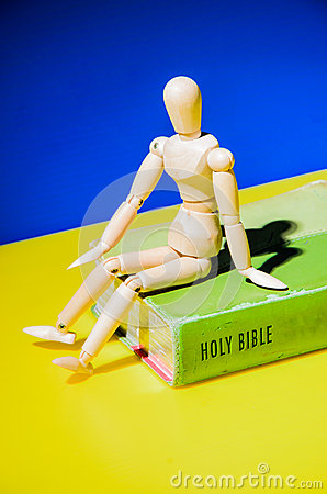 Model sit on the Bible.