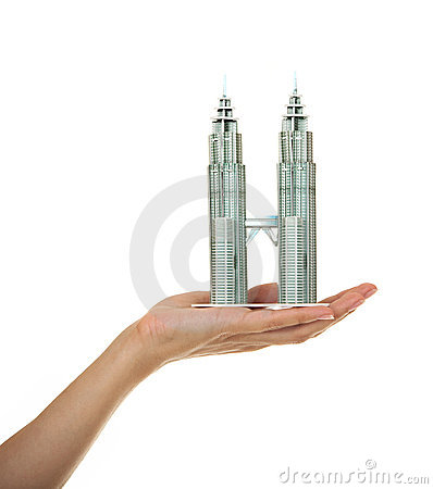 Model of skyscrapers