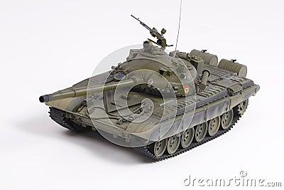 Model of the Soviet battle tank