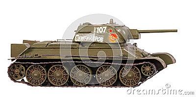 Model of T-34 tank