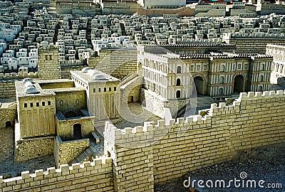 Model van de stad van Jeruzalem